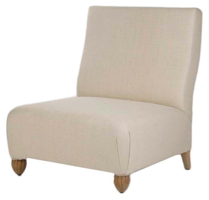 Caspar Silk Slipper Chair