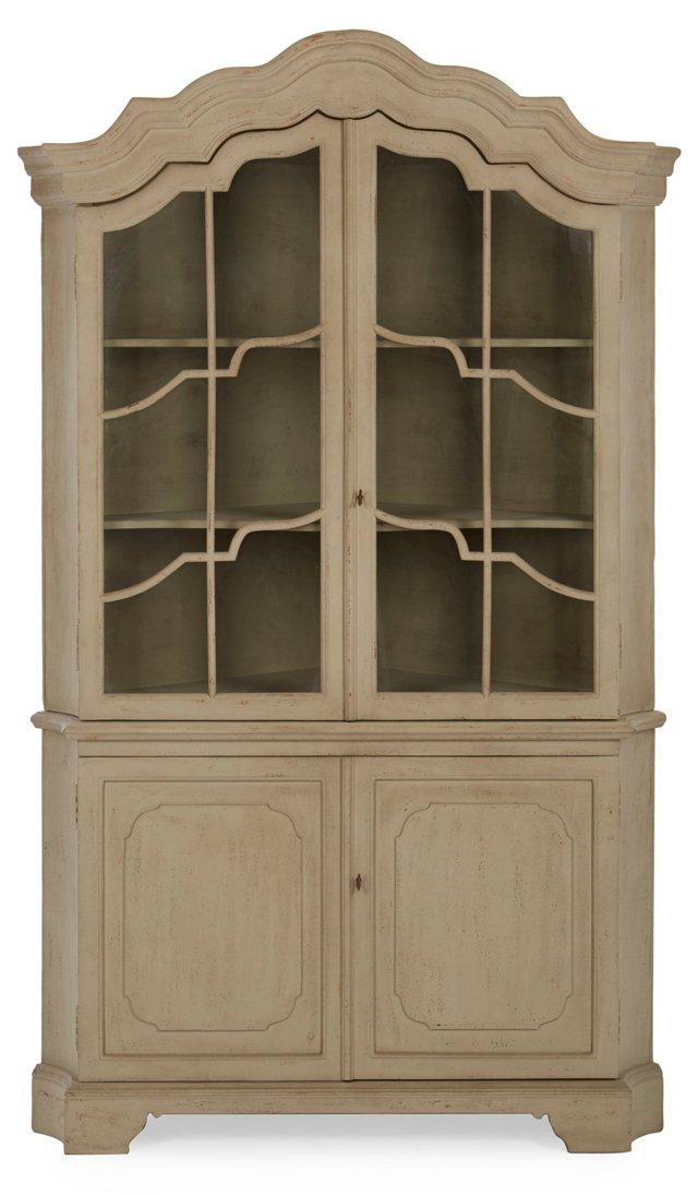 Hazel Corner Cabinet, Beige