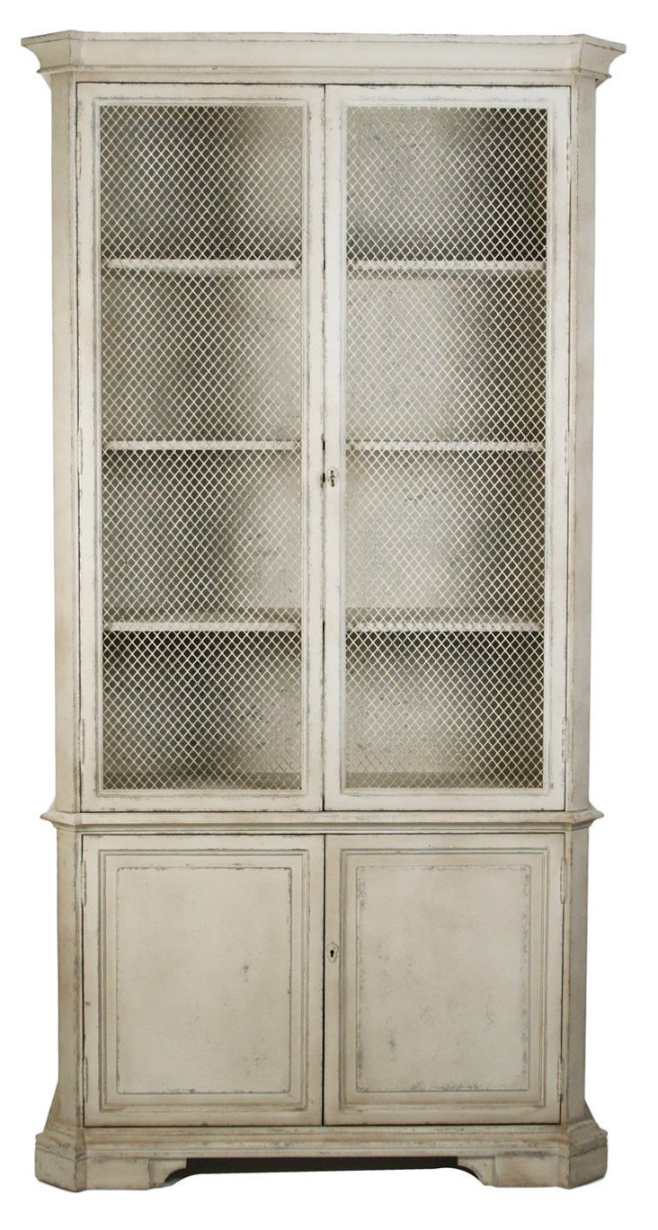 Millie Cabinet, Distressed Pale Gray