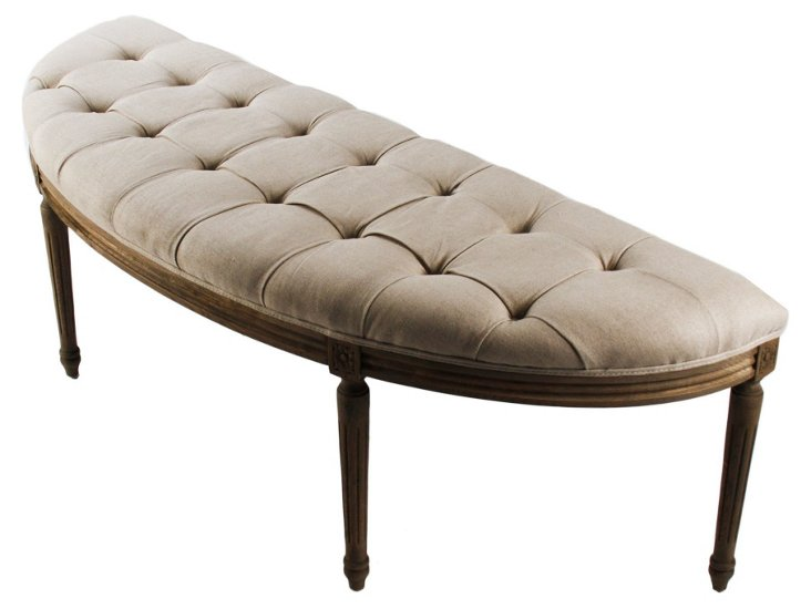 Epsilon Curved Tufted Bench