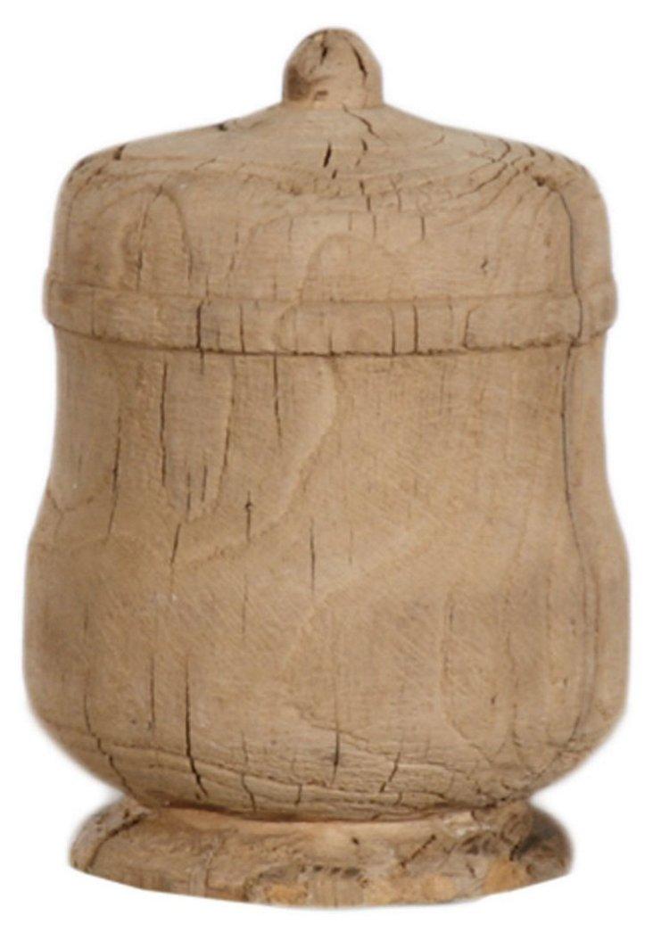 """7"""" Wooden Urn"""
