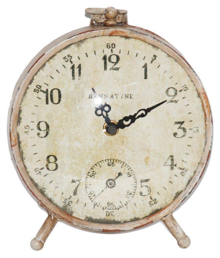 """9"""" Paris Petite Clock, Off-White"""