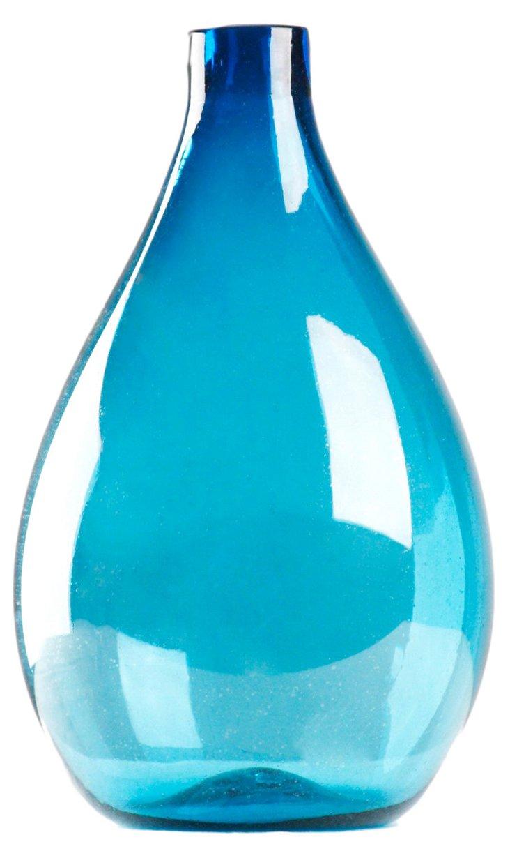 """17"""" Pool Blue Vase"""