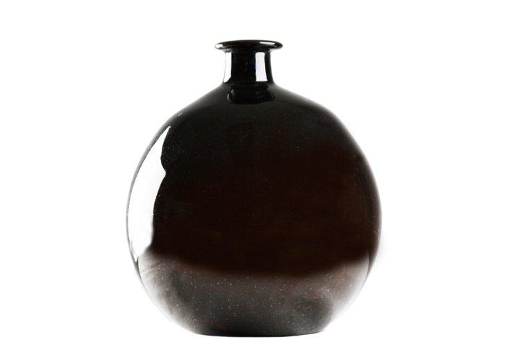 "14"" Round Vase, Amber"