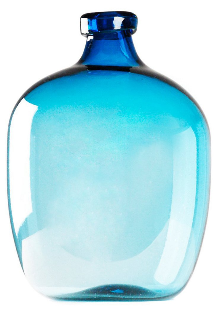 """20"""" Pool Jug Vase, Blue"""