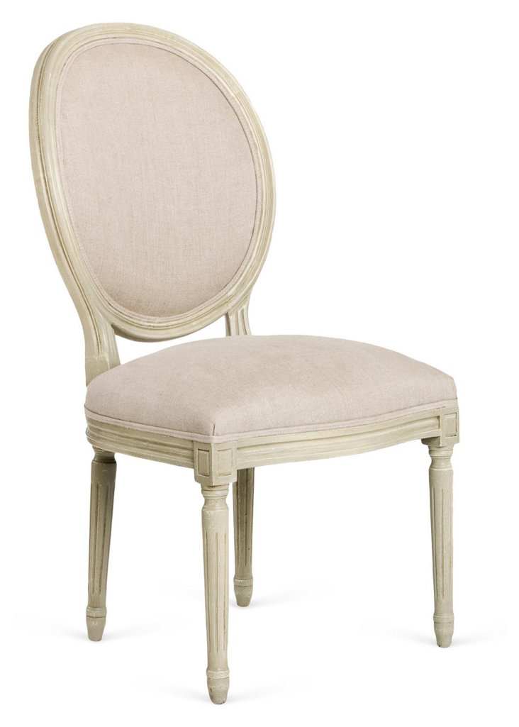 Octavia Side Chair, Cream