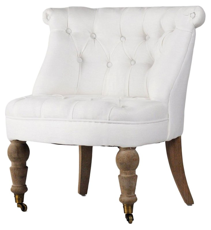 Cassia Accent Chair, White
