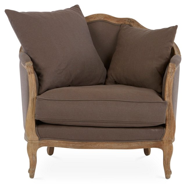 Maison Accent Chair, Chocolate