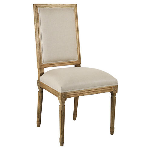 Valeria Side Chair, Ivory