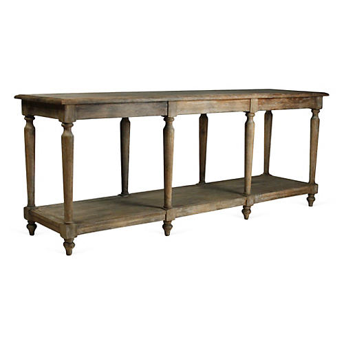 "Starmont 79"" Rustic Console, Natural"