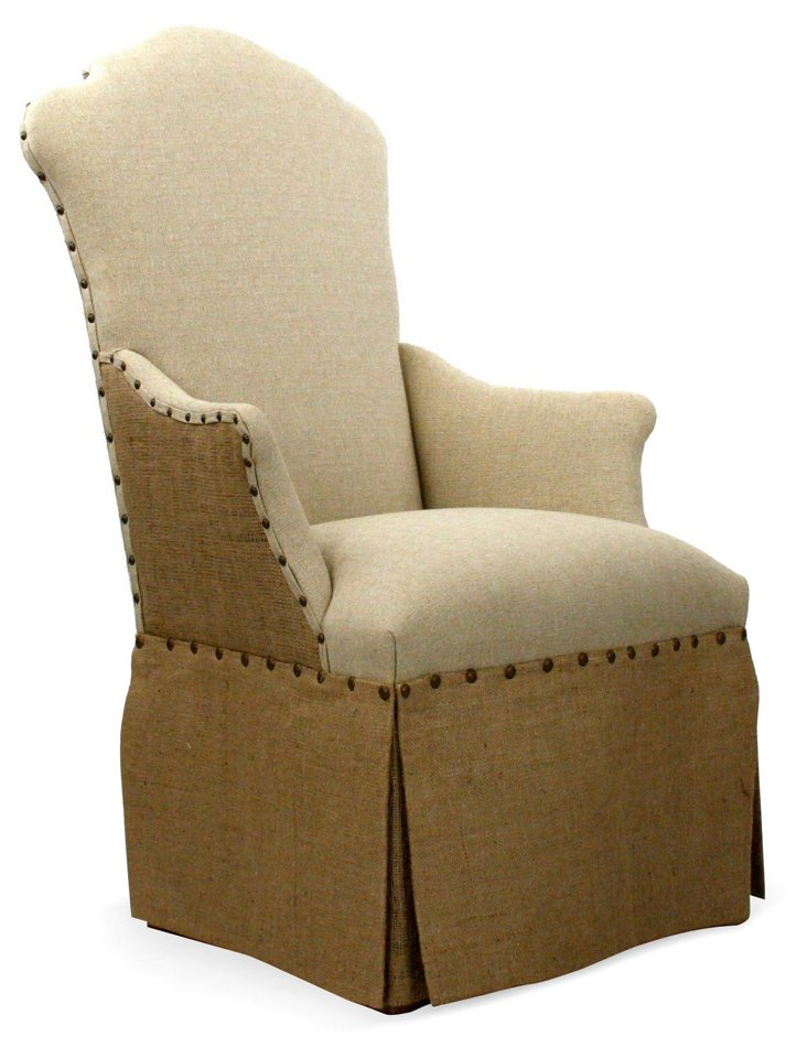Avery Skirted Armchair