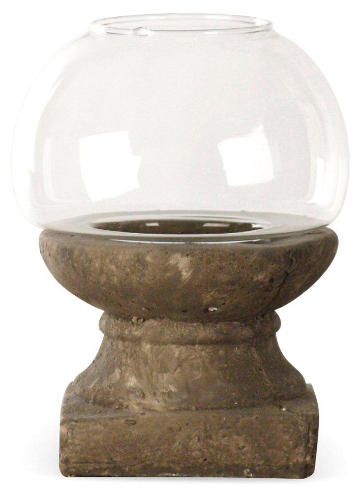 "8"" Pedestal Candleholder, Brown"