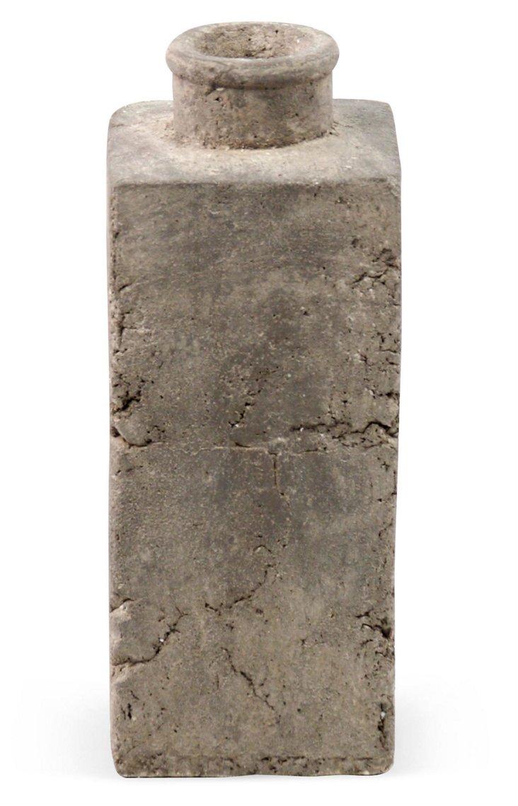 """13"""" Granular Ceramic Vase, Gray"""