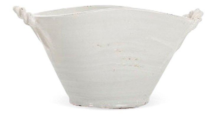 """9"""" Ceramic Tub, White"""