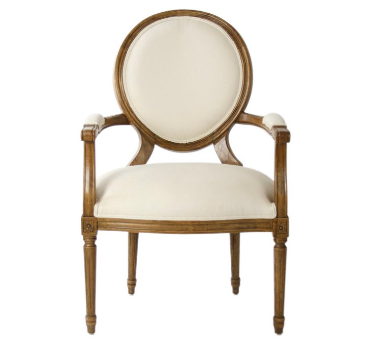 Medallion Armchair, White