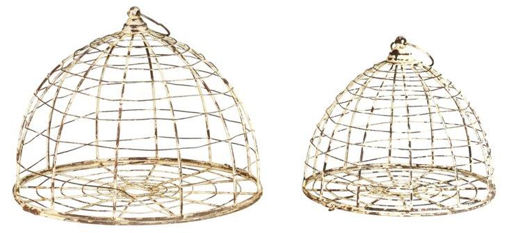 S/2 Cloche Birdcages
