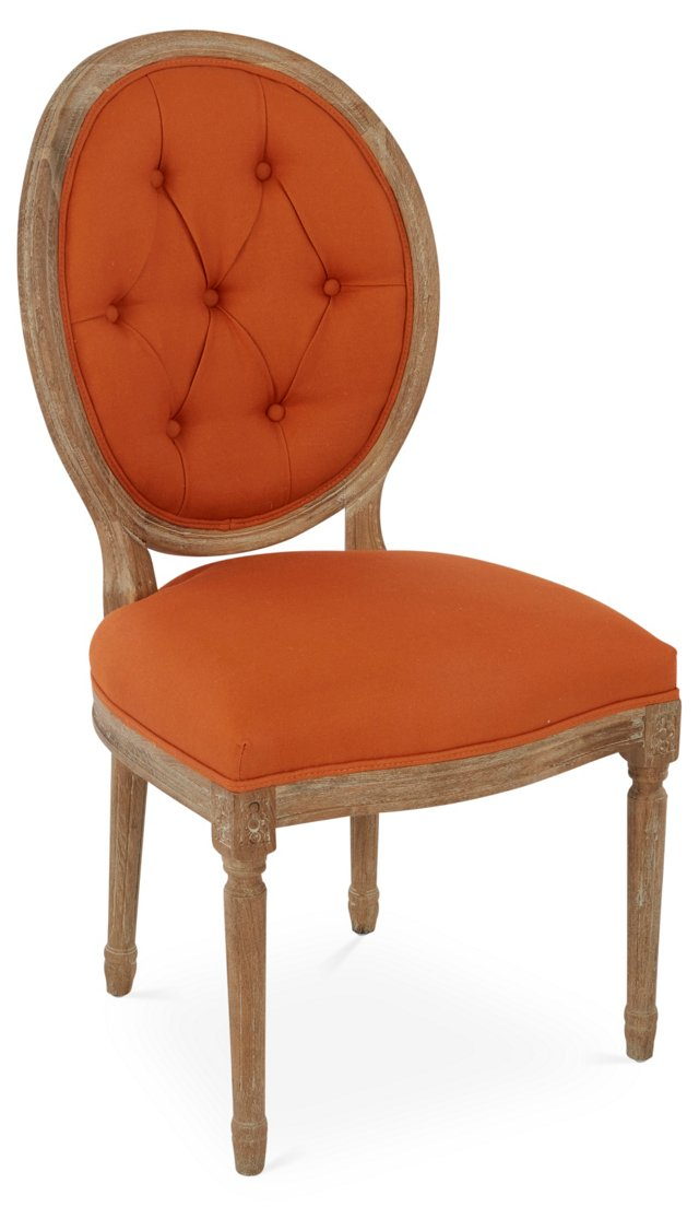 Medallion Side Chair, Persimmon