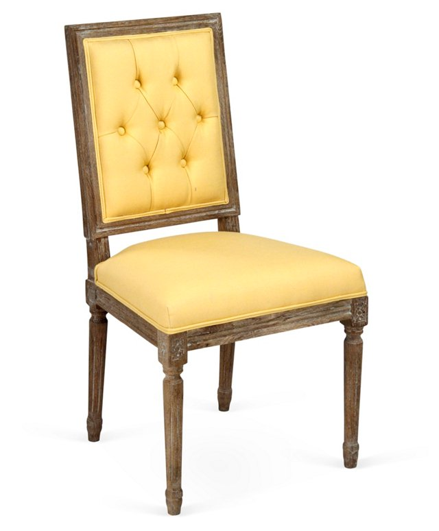 Valeria Tufted Side Chair, Butter