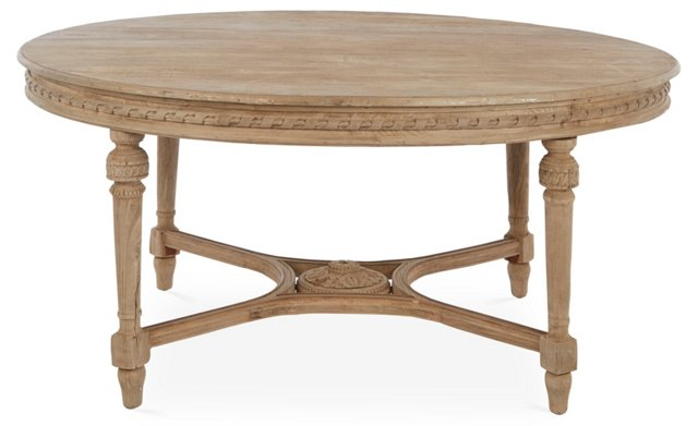 "Houston 70"" Round Dining Table, Almond"