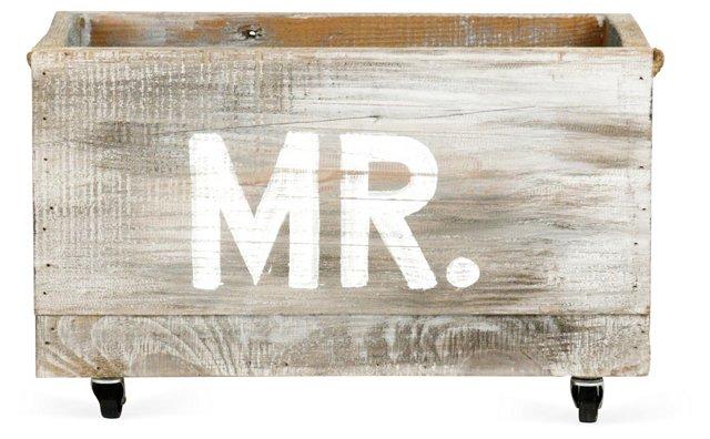 "24"" Mr. Cart, Oak/White"