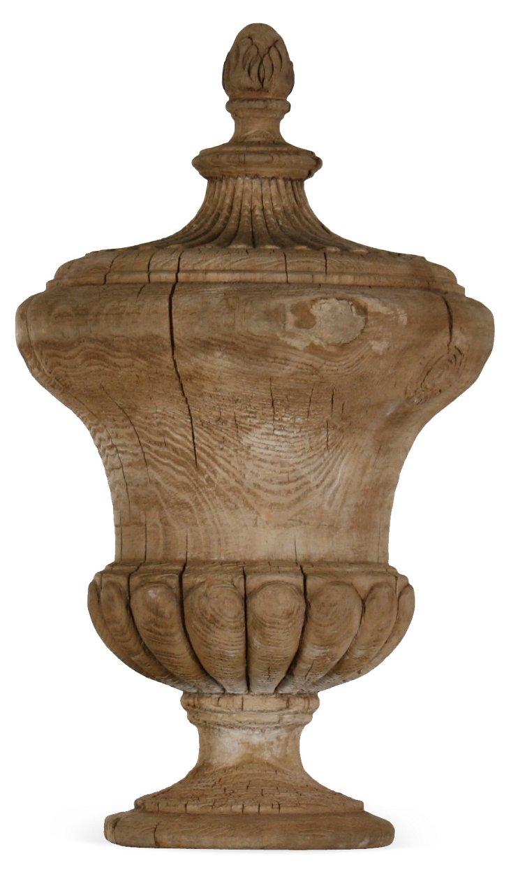 """25"""" Raw Wood Urn"""