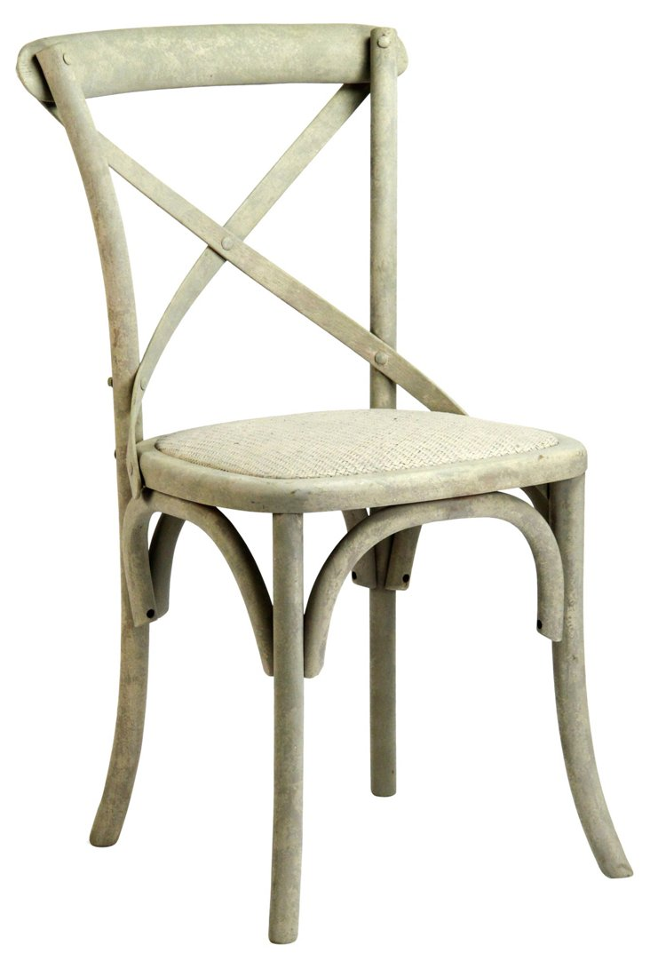 Parisienne Cafe Chair, Ivory