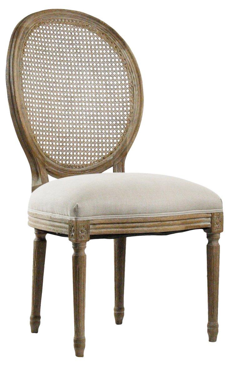 Medallion Side Chair, Cream