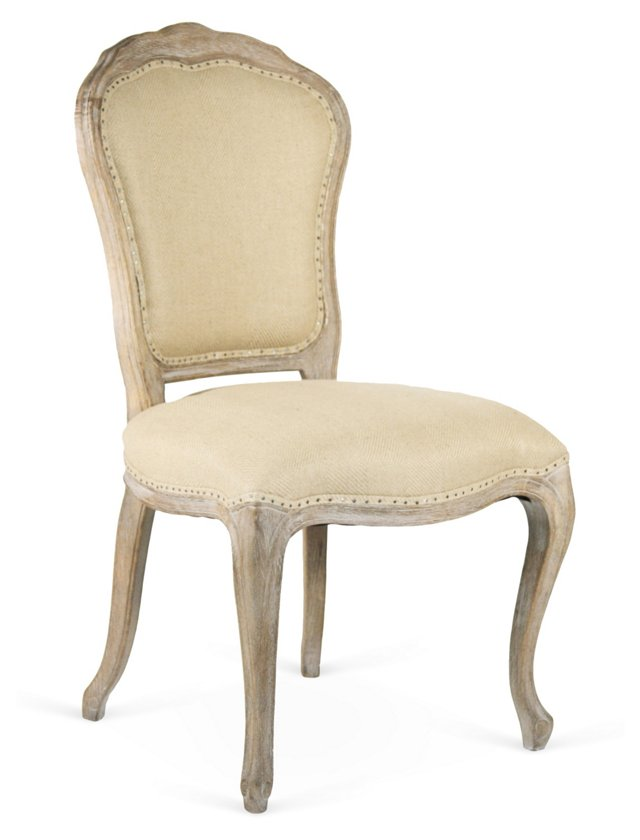 Lyon Side Chair, Sand Linen