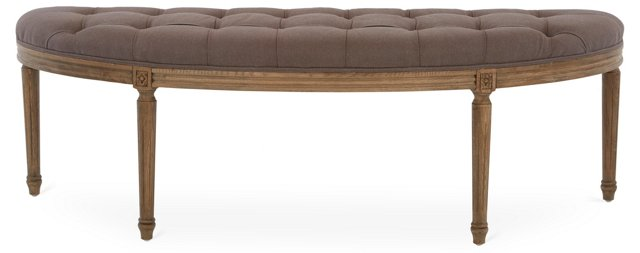 Hugo Curved Bench, Aubergine