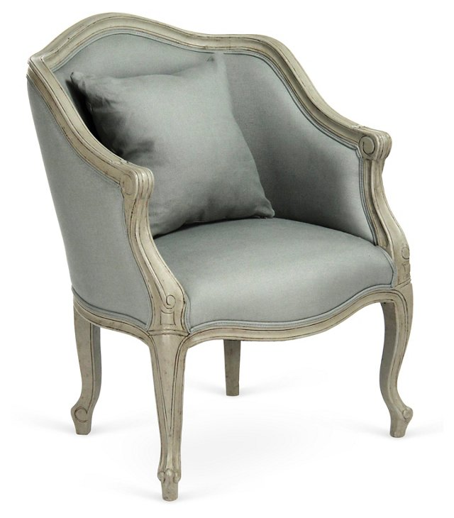 Chelsea Accent Chair, Light Sage