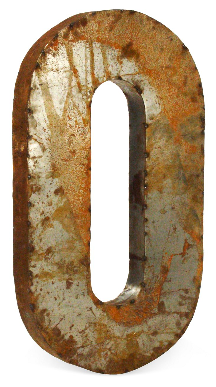 Recycled Metal Number, Large