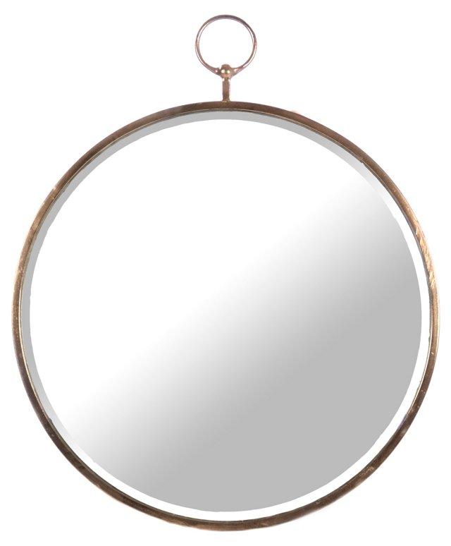 Beckett Wall Mirror, Rustic Bronze
