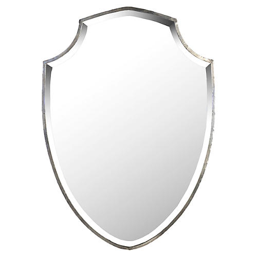 Clinton Wall Mirror, Rustic Metal