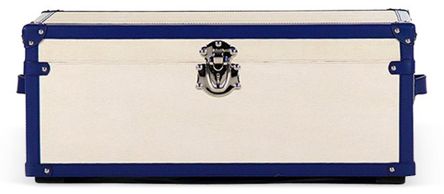 Mirabella Medium Trunk, Cream/Blue
