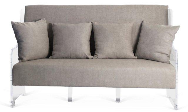 "Grace 75"" Sofa, Light Gray"