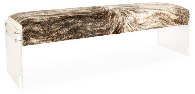 Giorgio Hide/Acrylic Bench, Brindle