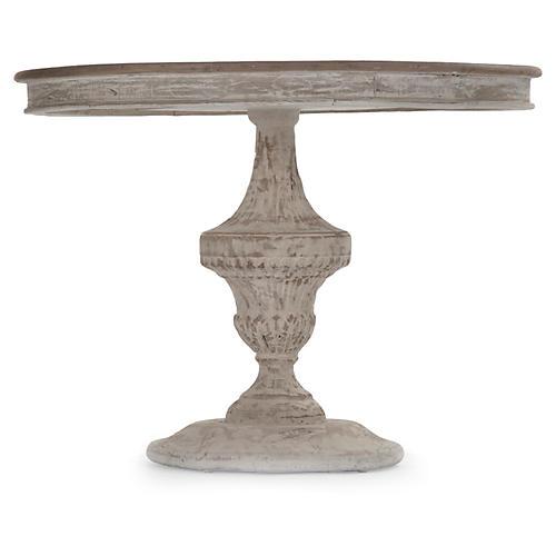 "Jackson 39"" Dining Table, Natural/Whitewash"