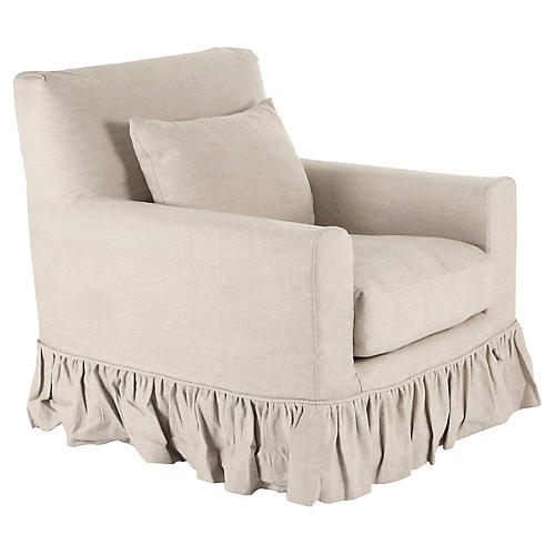 Christy Club Chair, Cream