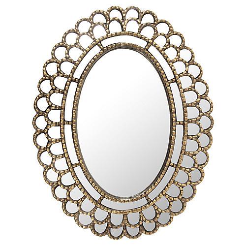 Felicity Wall Mirror, Rustic Gold