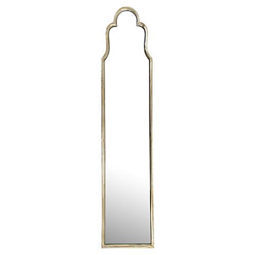 Diggle Floor Mirror, Silver