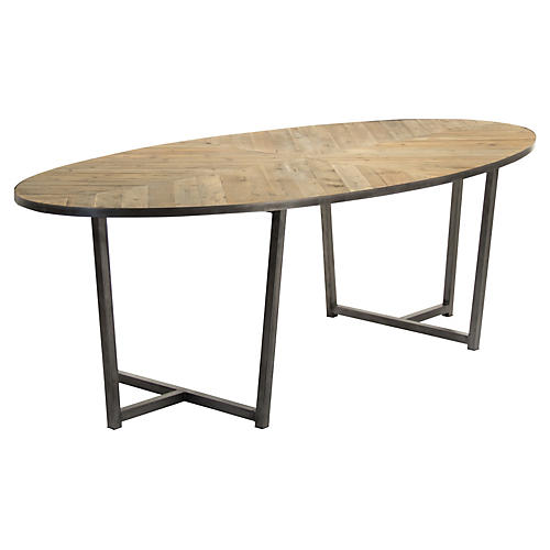 "Seneca 98"" Dining Table, Natural"