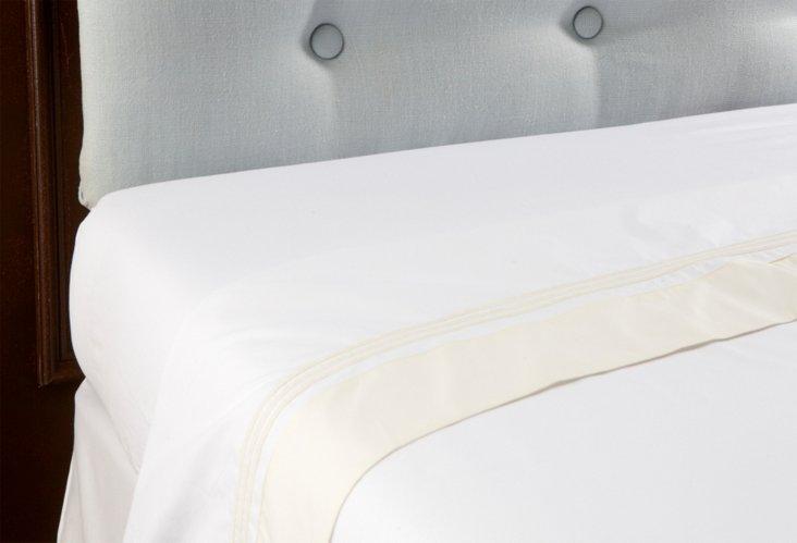 King Veronese Flat Sheet, White