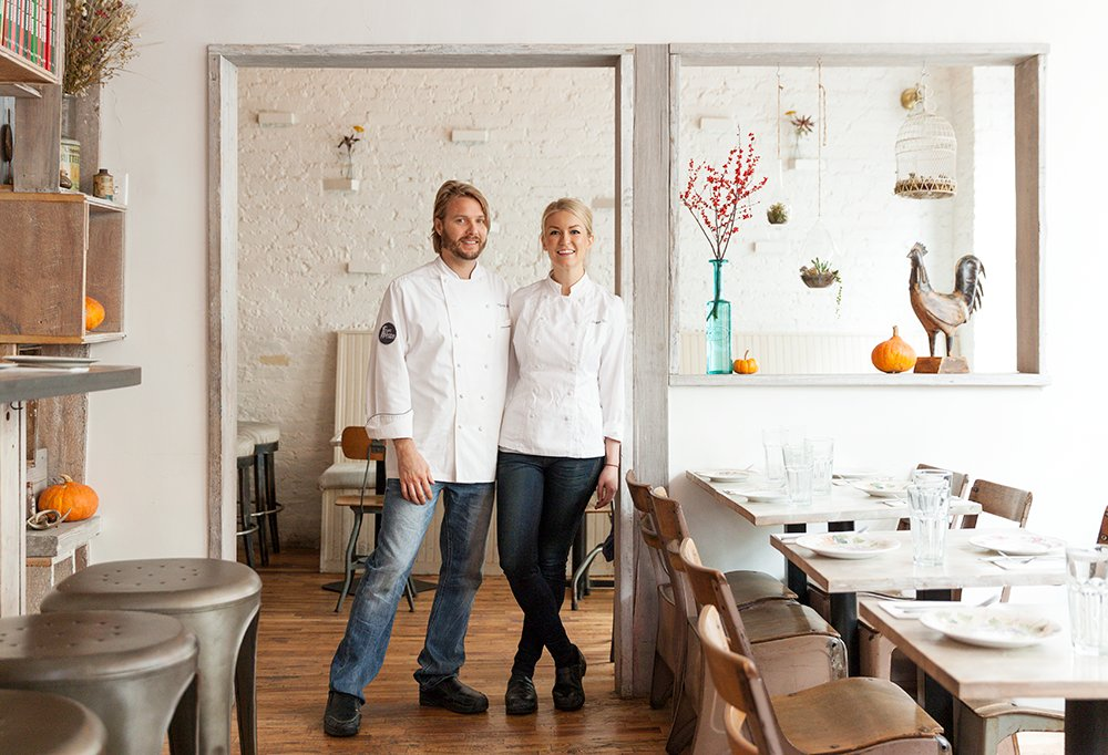 Co-owners Janine Booth and Jeff McInnis met in Miami, where both were chefs on the rise.