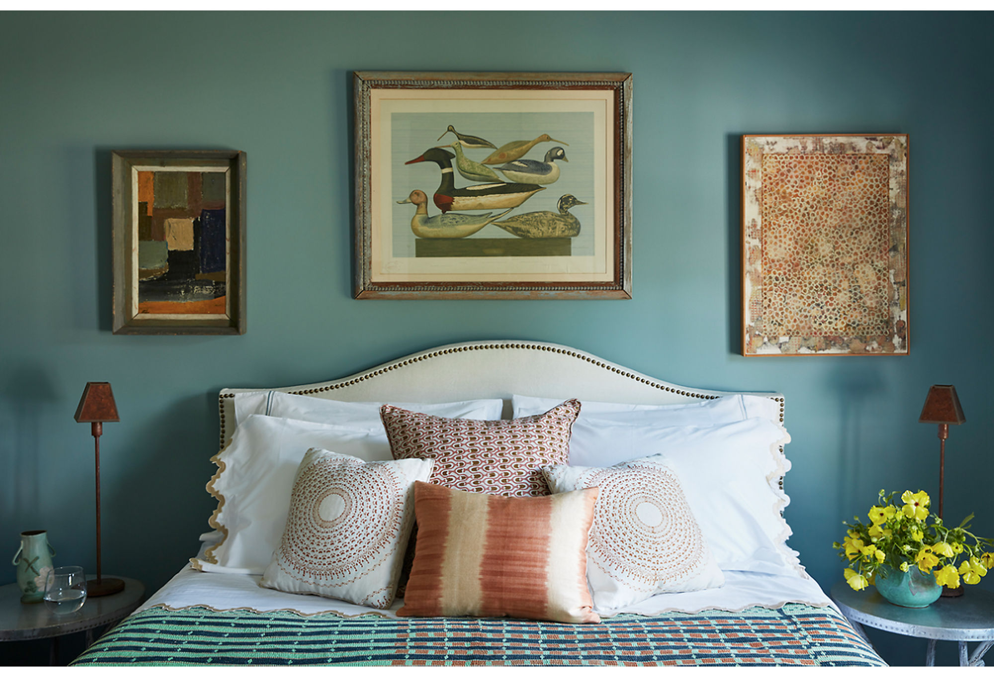 A snapshot fromShelia Bridges's guesthouse, as seen in the recent issue of Domino.