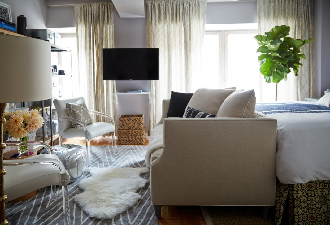 Furnish Studio Apartment small space makeover: a 400-square-foot apartment – one kings lane