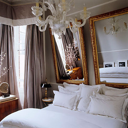 Spring Decorating Ideas:Bed & Bath - One Kings Lane — Our ... on Mirrors Next To Bed  id=45711
