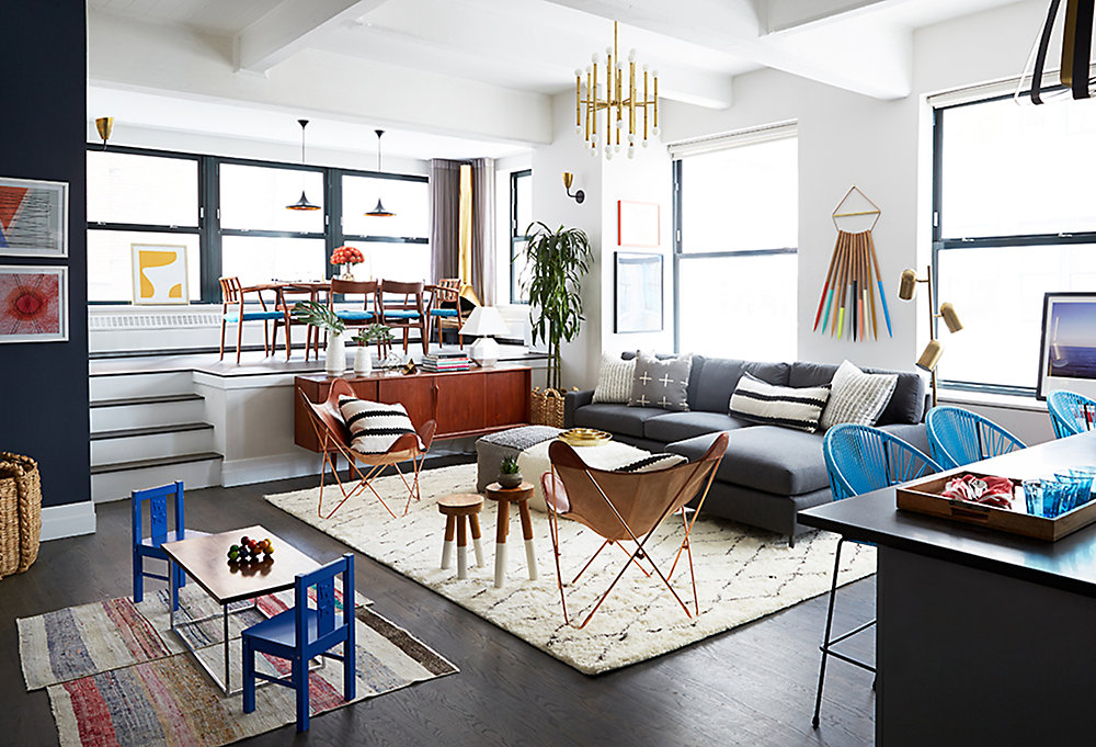Places To Gather A Fun Fashionable Family Room