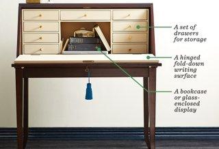 the essential guide to the secretary desk one kings lane rh onekingslane com old secretary desk furniture secretary desk furniture antique