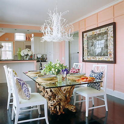 A Coral Dining Area