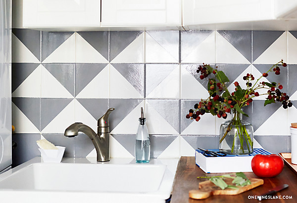 painted tile backsplash diy one kings lane style blog